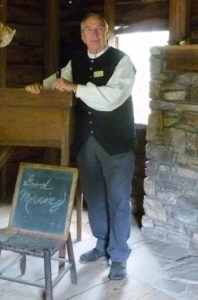 Historical Interpreter in School House
